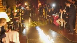 evento con fuoco a marrakech