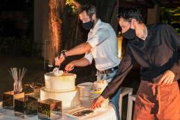 taglio torta evento